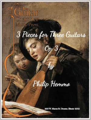 Cover of Three Pieces for Three Guitars