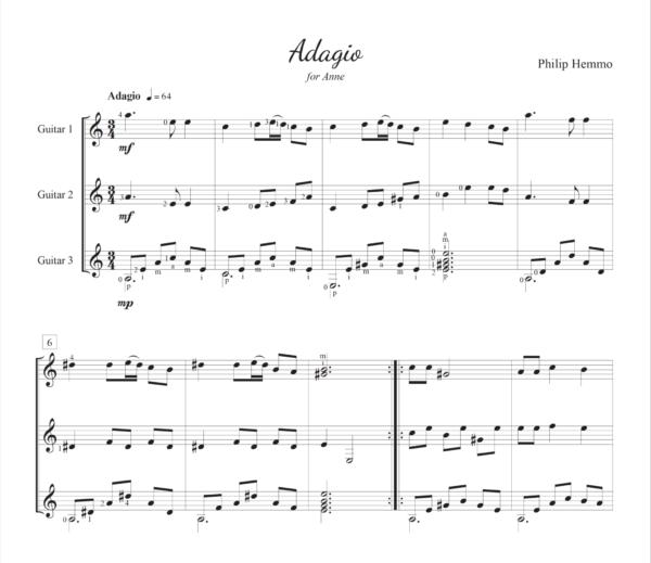 Score of Adagio