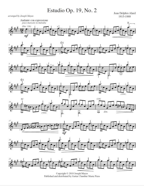 Score of Studio Op. 19 No. 2