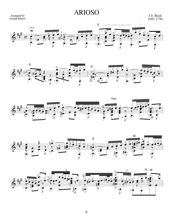 Score of Arioso