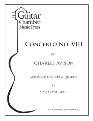 Cover of Concerto No. VIII