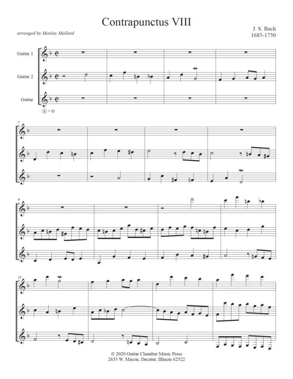 Score of Contrapunctus VIII