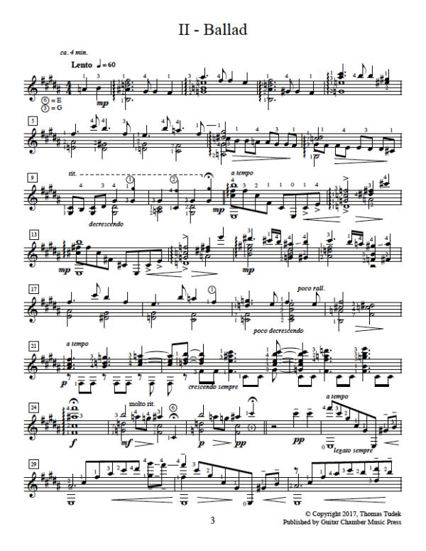 Score of Ballad