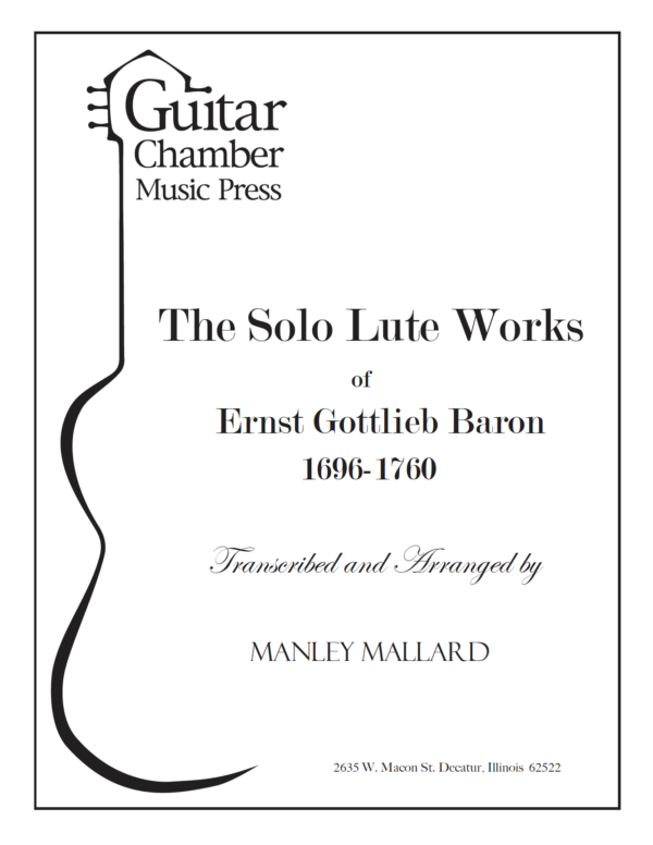 Cover of The Solo Lute Works Score