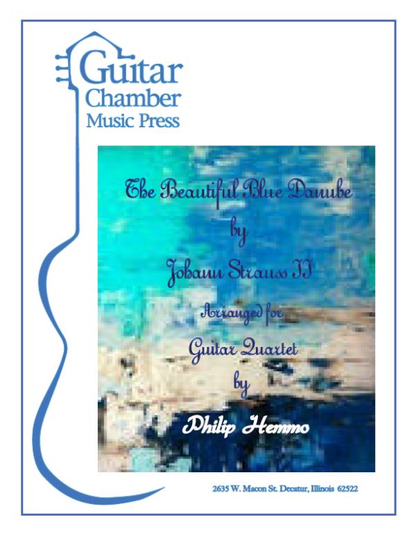 Score cover The Beautiful Blue Danube