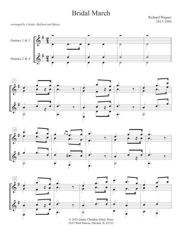 Score of Bridal March