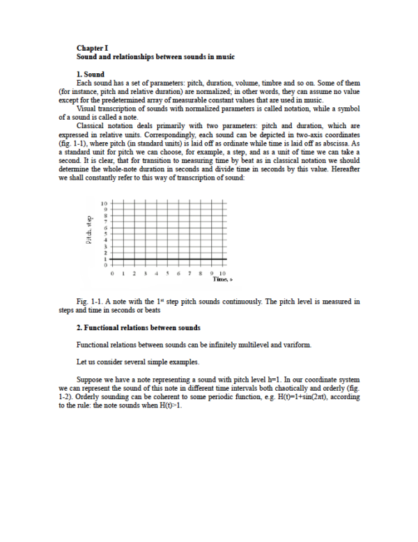Page from Chapter 1 from Music Theory: A New Approach Introduction to Analysis of Musical Forms