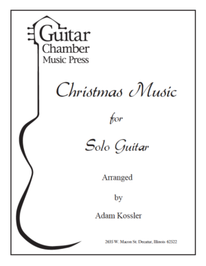 Cover of Christmas Music for Solo Guitar