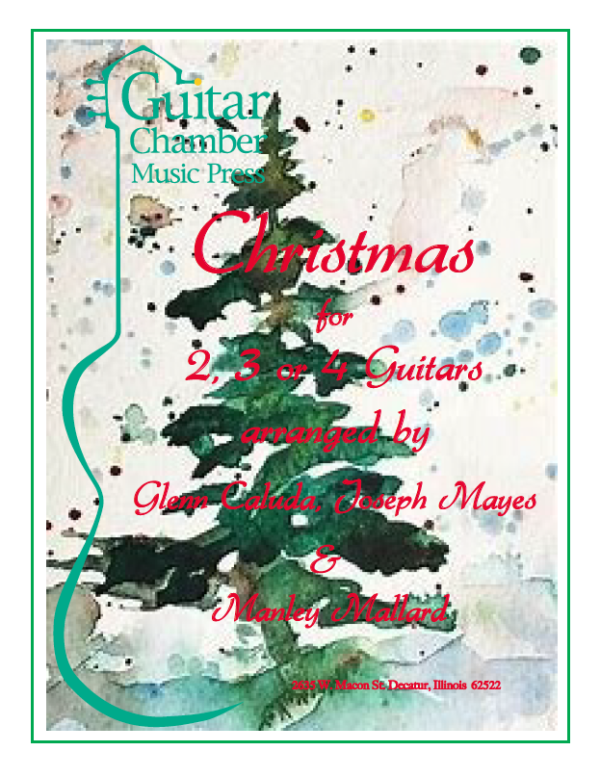 Cover of Christmas for 2,3, or 4 Guitars Score