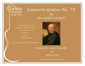Cover of Concerto Grosso No . VI Score