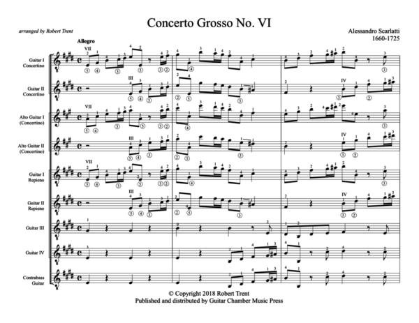 Score of Concerto Grosso No. VI