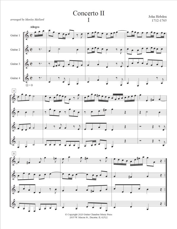Score of Concerto II