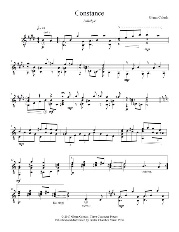 Score of Constance