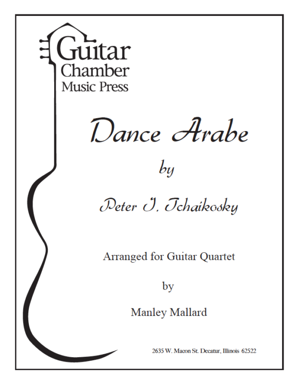 Cover of Dance Arabe Score