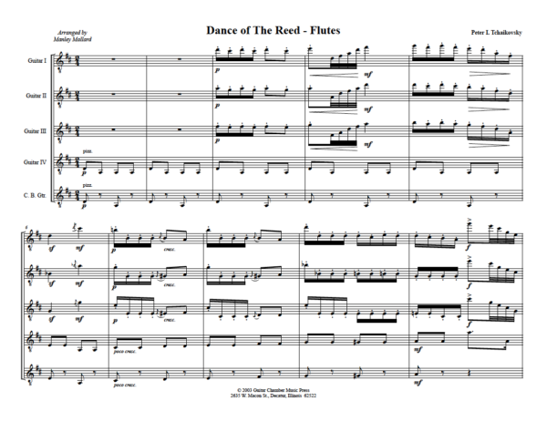 Score of Dance of the Reed Flutes