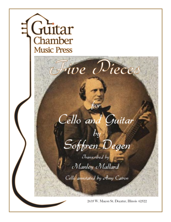 Cover of Five Pieces for Cello and Guitar