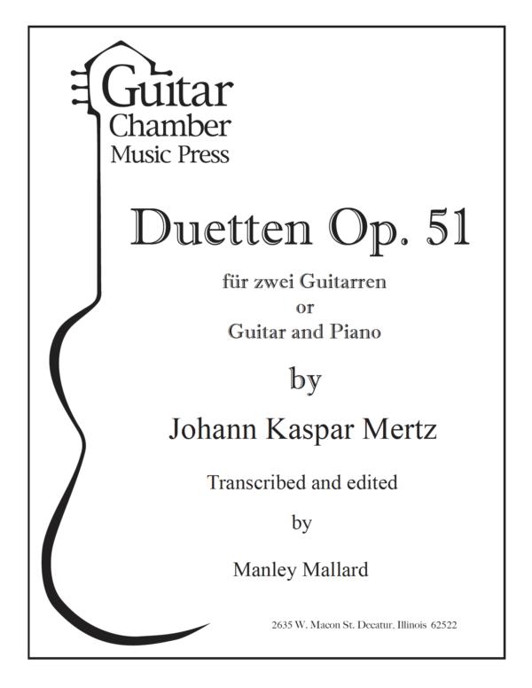 Score of Duetten Op. 51