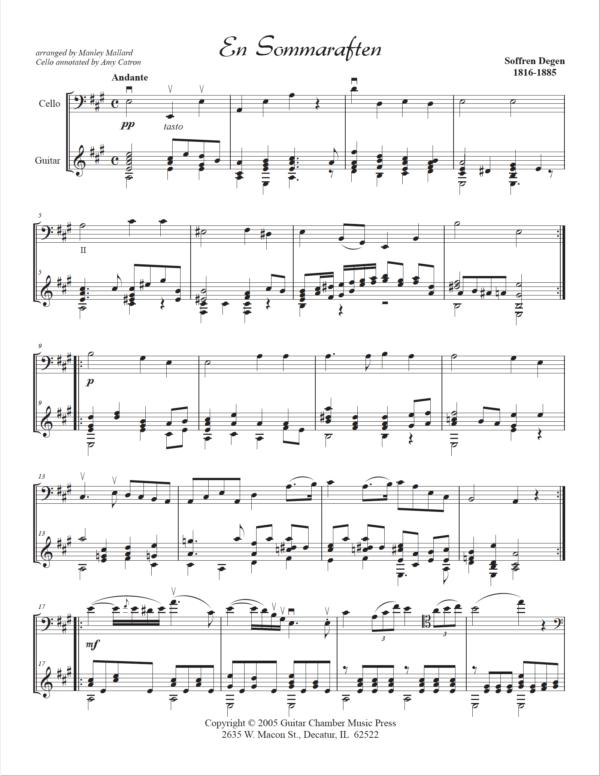 Score of En Sommaraften