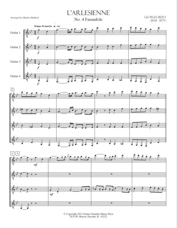 Score of L'Arlesienne