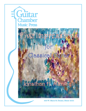 Cover of Five Impressions for Classical Guitar