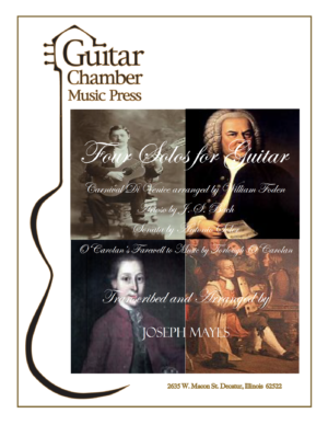 Cover of Four Solos for Guitar