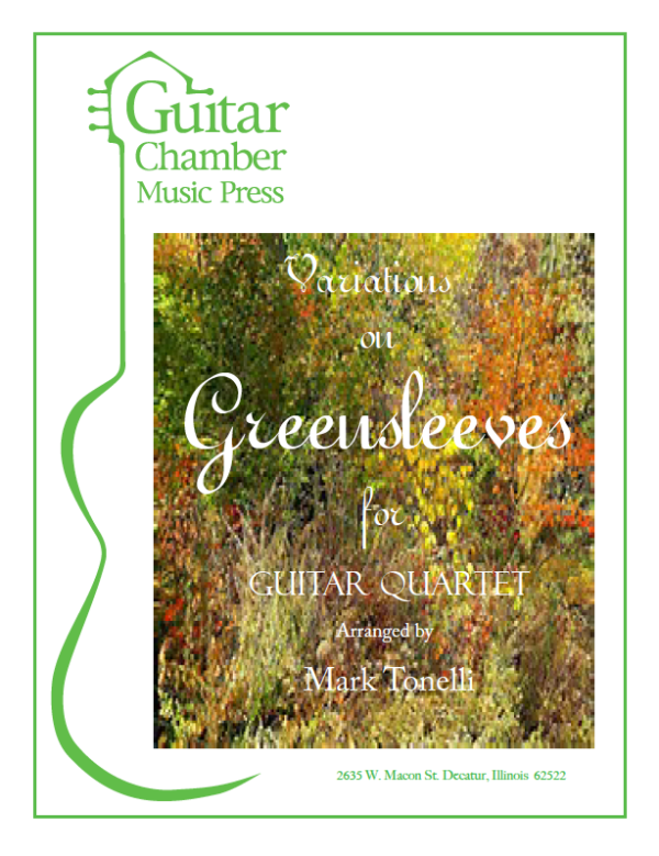 Cover of Variations on Greensleeves