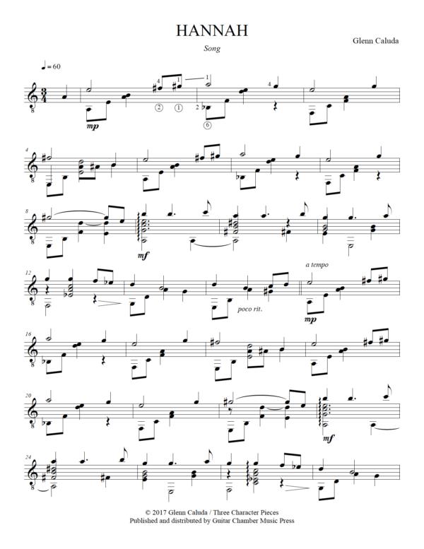 Score of Hannah