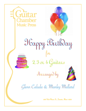 Cover of Happy Birthday for 2,3, or 4 Guitars