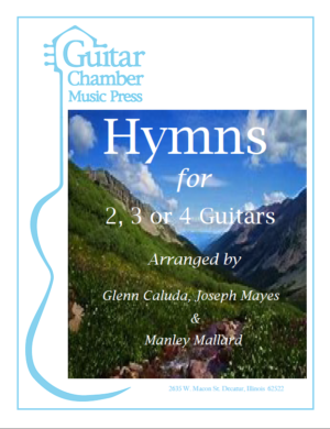 Cover of Hymns for 2,3, or 4 Guitars Score