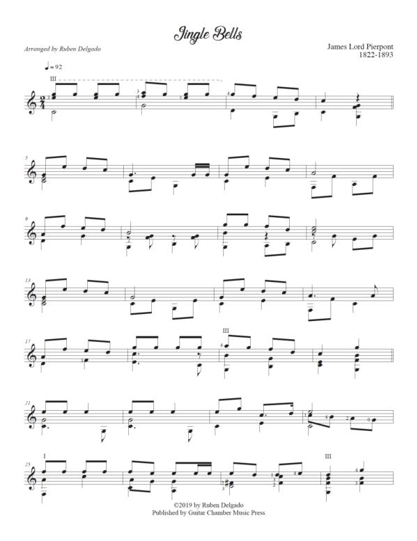 Score of Jingle Bells