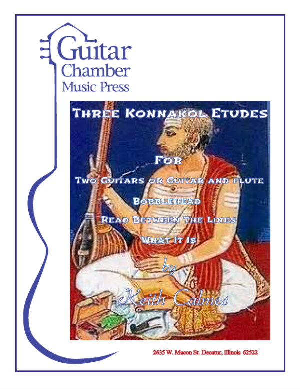 Cover of Three Konnakol Etudes