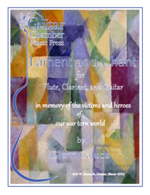 Cover of Lament and Chant Score