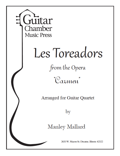Cover of Les Toreadors Score