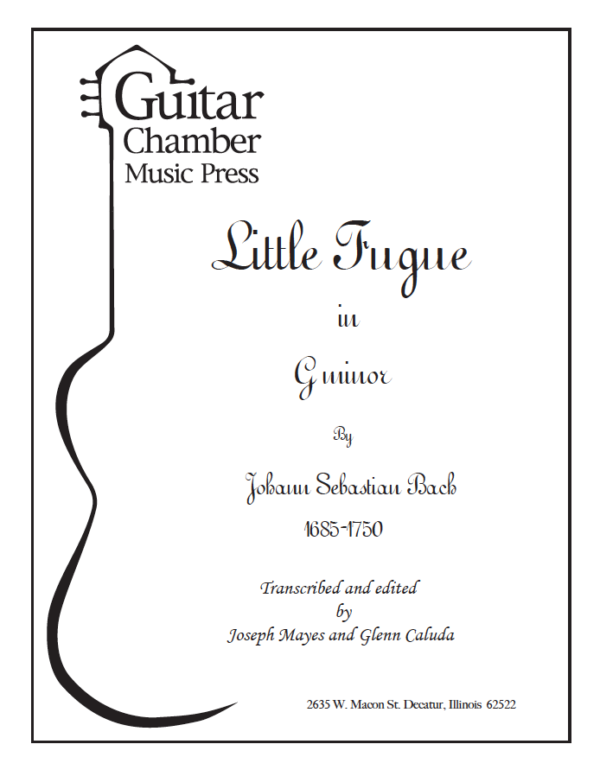 Cover of Little Fugue in G Minor Score