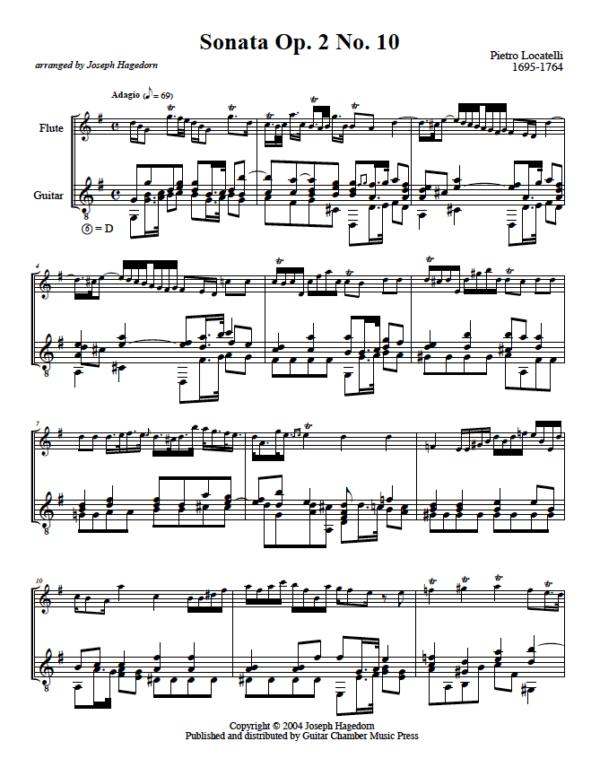 Sonata Op. 2 No. 10