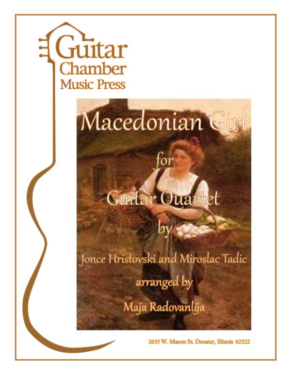 Cover of Macedonian Girl Score