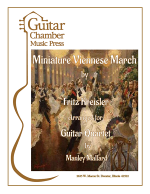 Cover of Miniature Viennese March Score