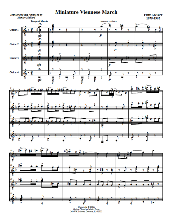 Score of Miniature Viennese March