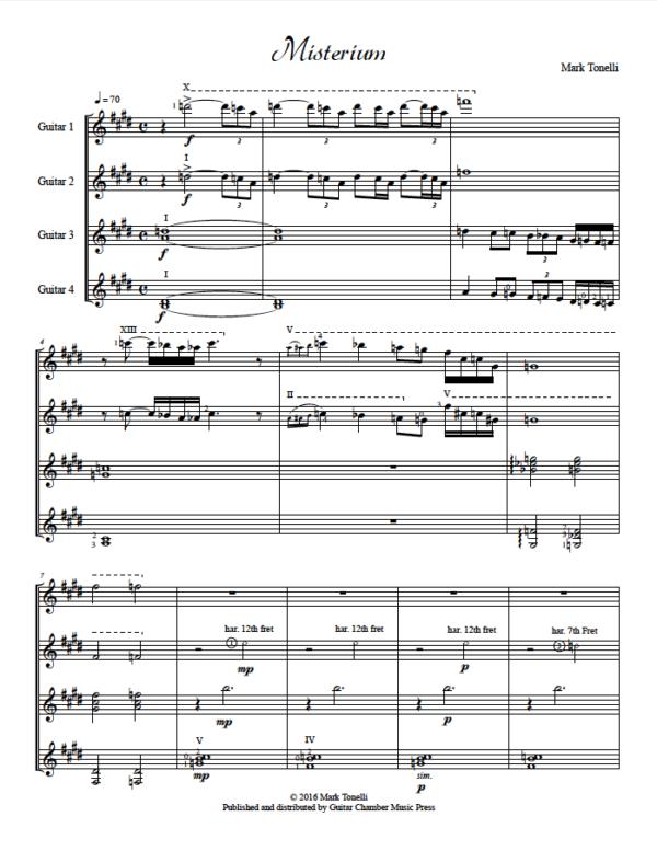 Score of Misterium
