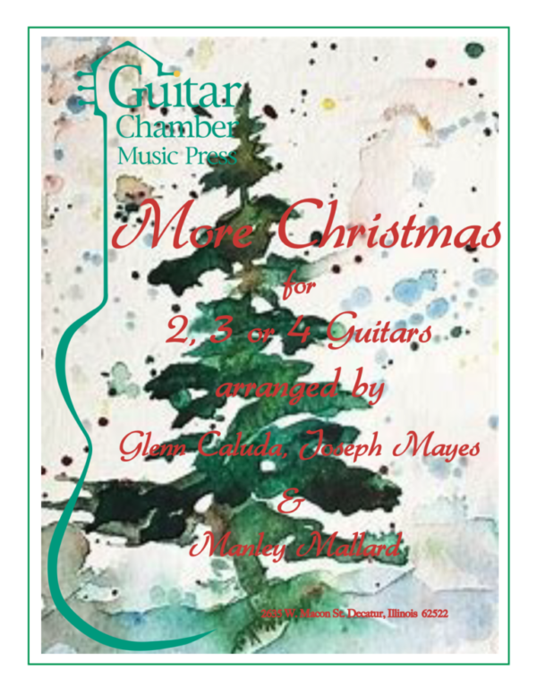 Cover of More Christmas for 2,3, or 4 Guitars Score