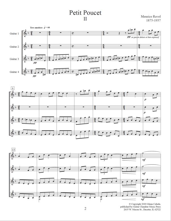 Score of Petit Poucet II
