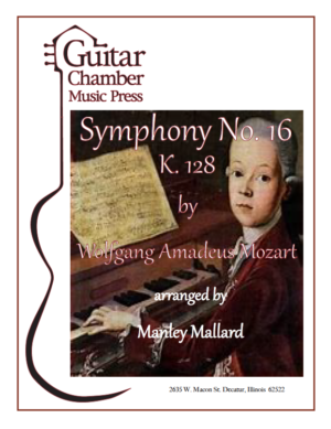 Cover of Symphony No. 16 K. 128