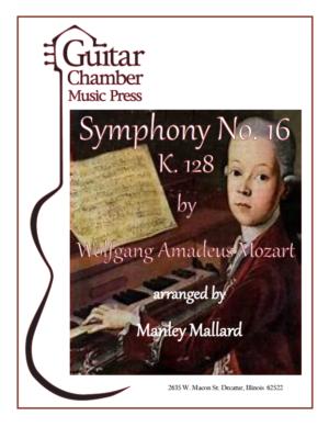 Cover of Symphony No. 16 K. 128