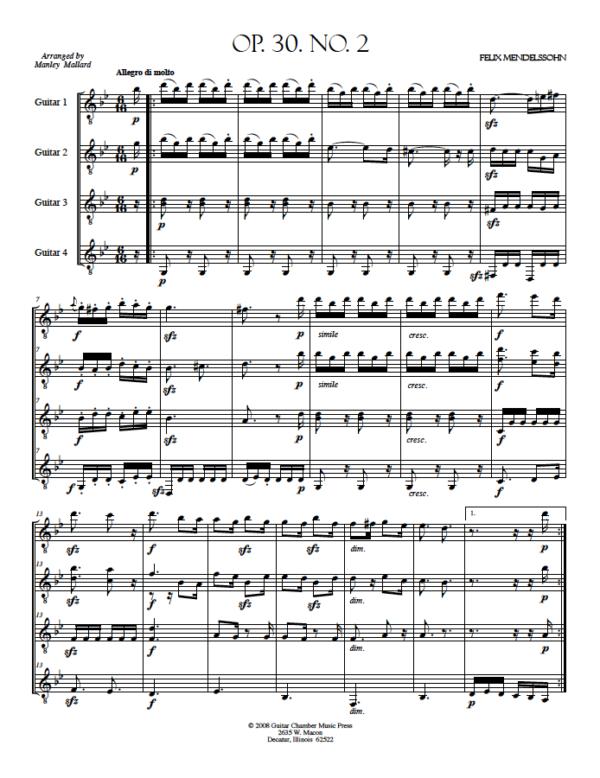 Score Op. 30 No. 2