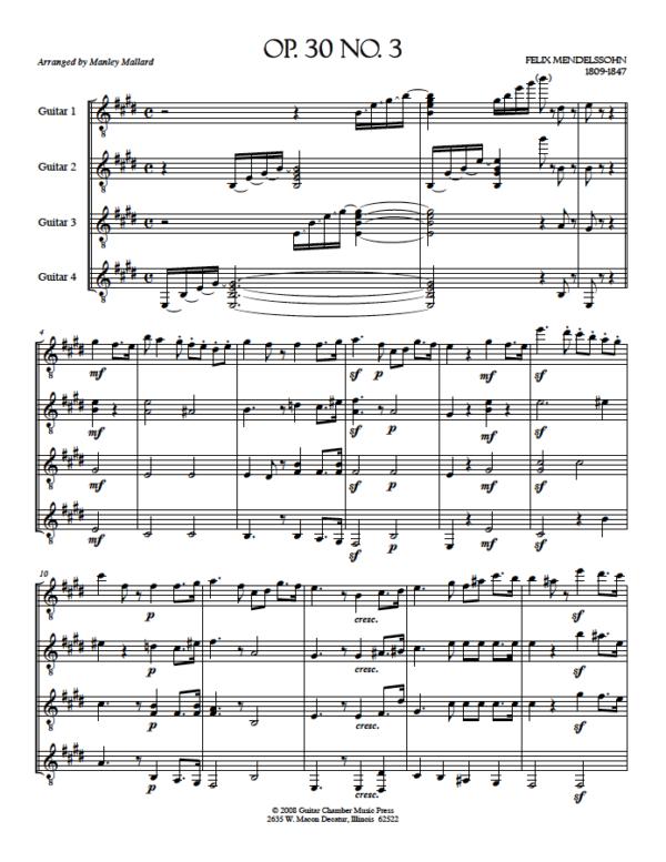 Score of Op. 30 No. 3