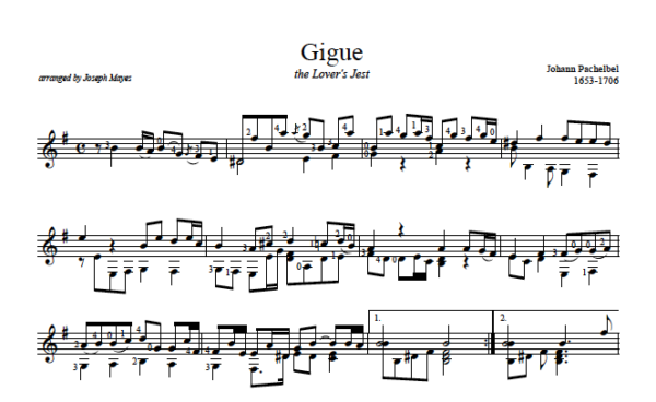 Score of Gigue