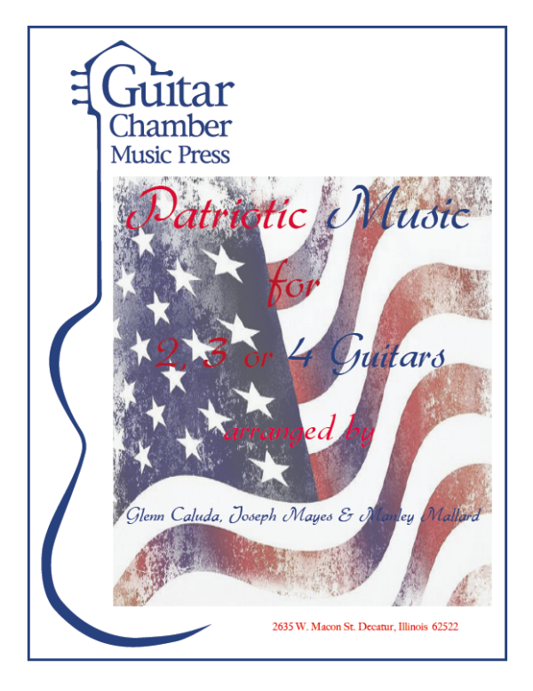Cover of Patriotic Music for 2,3, or 4 Guitars Score