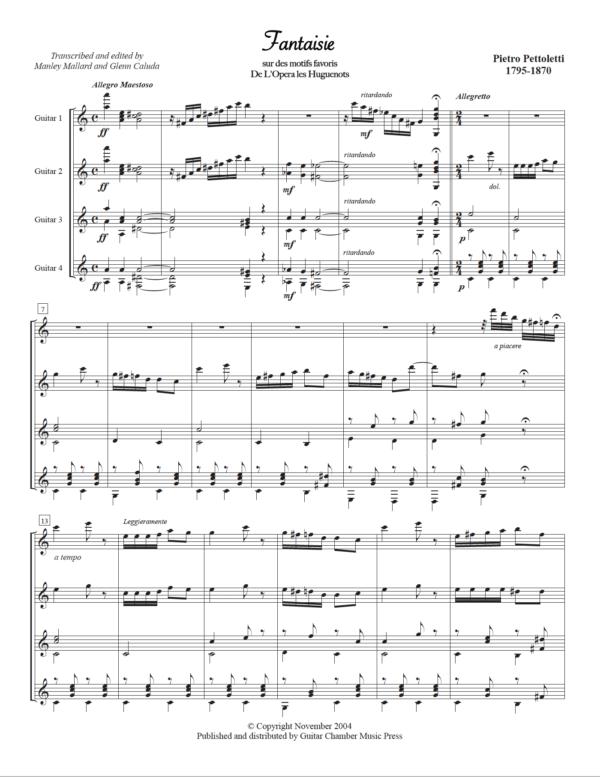 Score of Fantaisie