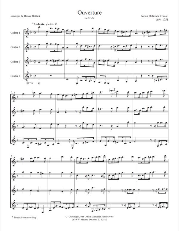 Score of Ouverture