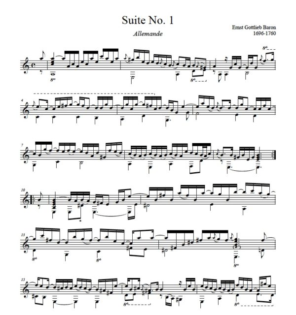 Score of Suite No. 1
